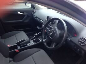 A beautiful grey Audi A3 1.6L, 56 plate, only 57000 miles, brand new MOT, very reasonably priced