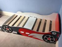 Boys toddler racing car bed