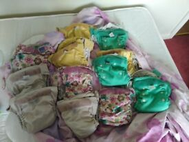 12 baby mio Reusable nappies one size