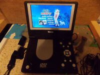 Tevion DVD player mains and battery and car