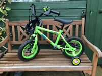 Children's bicycle with stabilizers