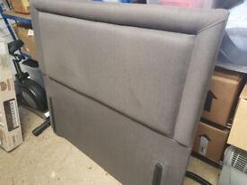 King size grey padded headboard