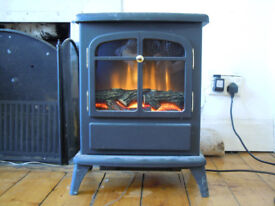 Electric Stove fire place Heater. Focal Point ES1000. Excellent order.