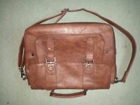 Men's Brown Leather Satchel Bag