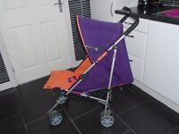 Mamas and papas kato lie flat umberella buggy with new raincover