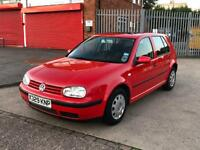 volkswagen golf 1.4 petrol very low miles