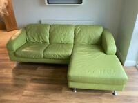 DFS Leather Corner Sofa & Swivel Armchair