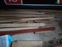 A pile of floor Beadings