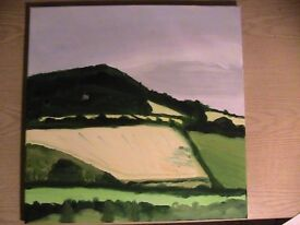 Corbridge painting - View south from the bridge