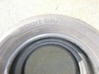 Dunlop Blue Response 205/60/16 - 4 tyres with less than 1000 miles.