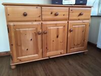 Dresser with 3 draws and 3 cupboards - pine