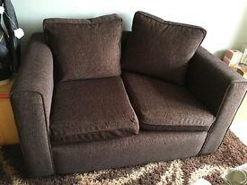 Matching brown sofa set