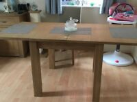 NEXT Cambridge oak light dining table *extendable* almost new