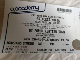 *GREAT DEAL* 2× Princess Nokia Tickets (@ O2 Kentish Town)