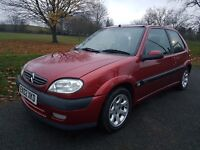 Citreon SAXO 1.6i VTR 3dr with Alloy wheels and New MOT. Not Fiesta, Corsa, Clio or Astra.