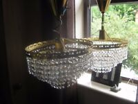 A Pair Of Beautiful Sparkling Life Bohemian crystal basket chandeliers made by Preciosa,
