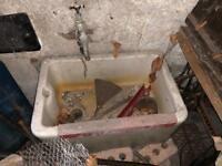 Vintage large white Belfast sink