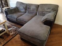 Grey right-hand corner-chaise sofa for sale: great condition!