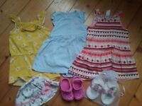 Baby girl 6-9 months clothing bundle 40+items, shoes, dresses, sleepsuits, tops, leggings, cardigans