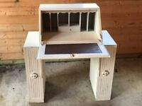 Desk dressing table / workstation painted white