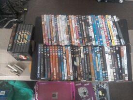 Job lot of 66 DVDs.