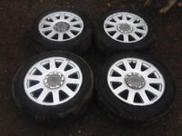 """Audi A4 / A6 16"""" alloy wheels - good tyres"""