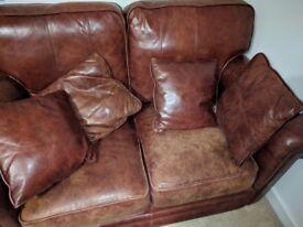 2 leather sofas brown Thomas Lloyd