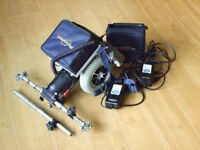Used VGC TGA Wheelchair Power Pack Powerpack DUAL Wheel Assisted Drive 2 x batteries and chargers