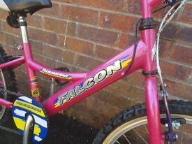 Falcon Pink 5-8 year old girl's Bike