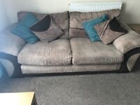 3&2 seater sofa plus footstool