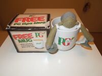 A Genuine PG Tips Mug And A PG Tips Chimp With Suckers On His Arms