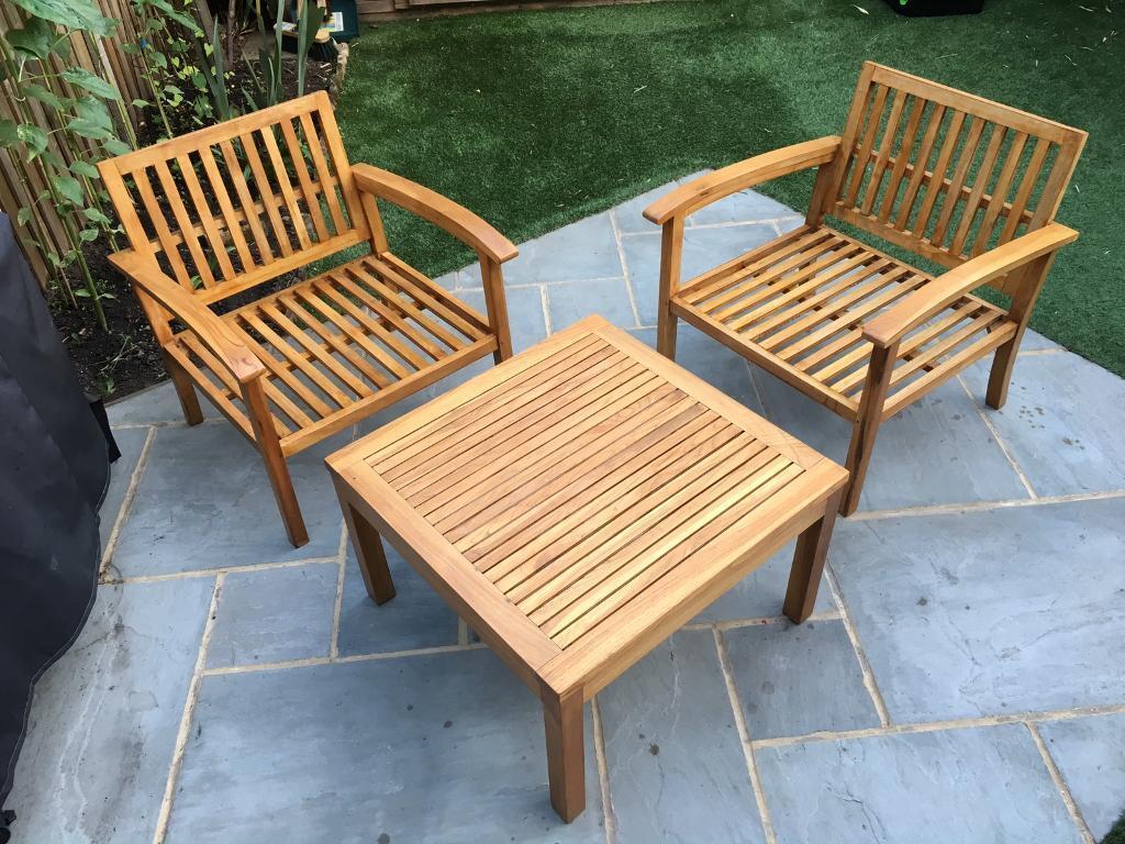 3-Piece Teak Garden Furniture