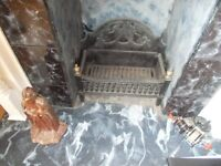 CAST IRON FIRE GRATE AND TOOLS
