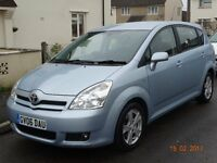 7 Seater Toyota Corolla Verso. Low mileage family car in excellent condition.