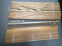 4 x Ikea wooden slatted blinds: 1m wide x 1.9m long