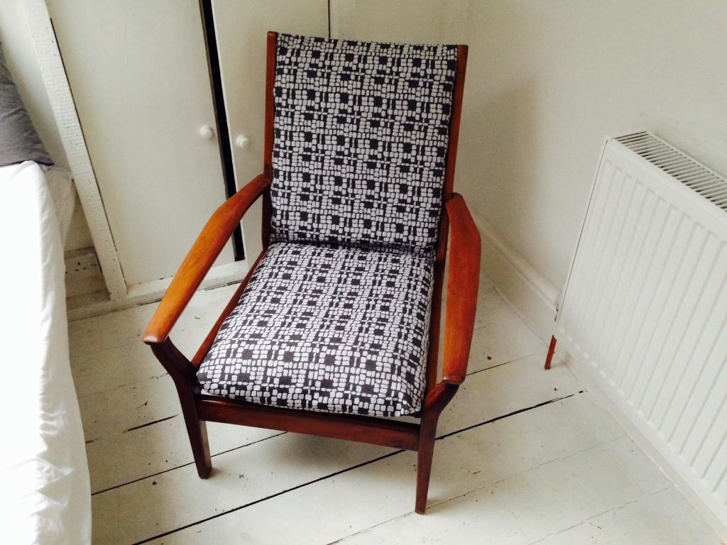 Mid Century Cintique Lounge Chair Vintage Retro