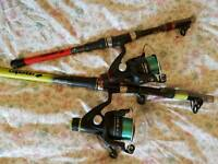 Kids travel telescopic fishing rods with reels