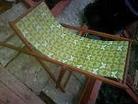 2 x hardwood deck chairs