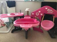 Baby doll nursery station