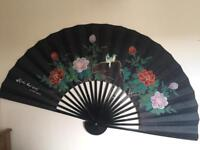 BEAUTIFUL LARGE ORIENTAL WALL FAN