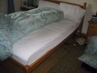 Wooden Double Bed, no mattress