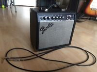 Fender Frontman 15G Guitar Amp with KORG Tuner and Guitar Cable