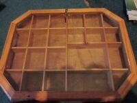 Wooden craft storage container