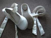 MONSOON flower girl shoes ivory size 8