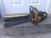 PETROL CHAINSAW WITH CHAIN COVER AND 18INCH BAR £55