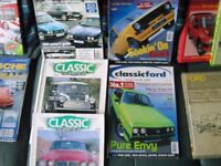 classic car books,mags,workshop manuals