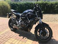 Yamaha MT-07 LOW MILEAGE A2 motorbike