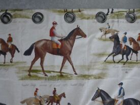 One-off curtain design. Ideal for horse lovers. Brand new.