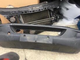Mercedes sprinter front end radiator slam panel bumper headlight grill bonnet