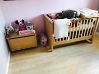 Mamas and papas nursery furniture! Cot, wardrobe, dresser , toy box & cot top changer!
